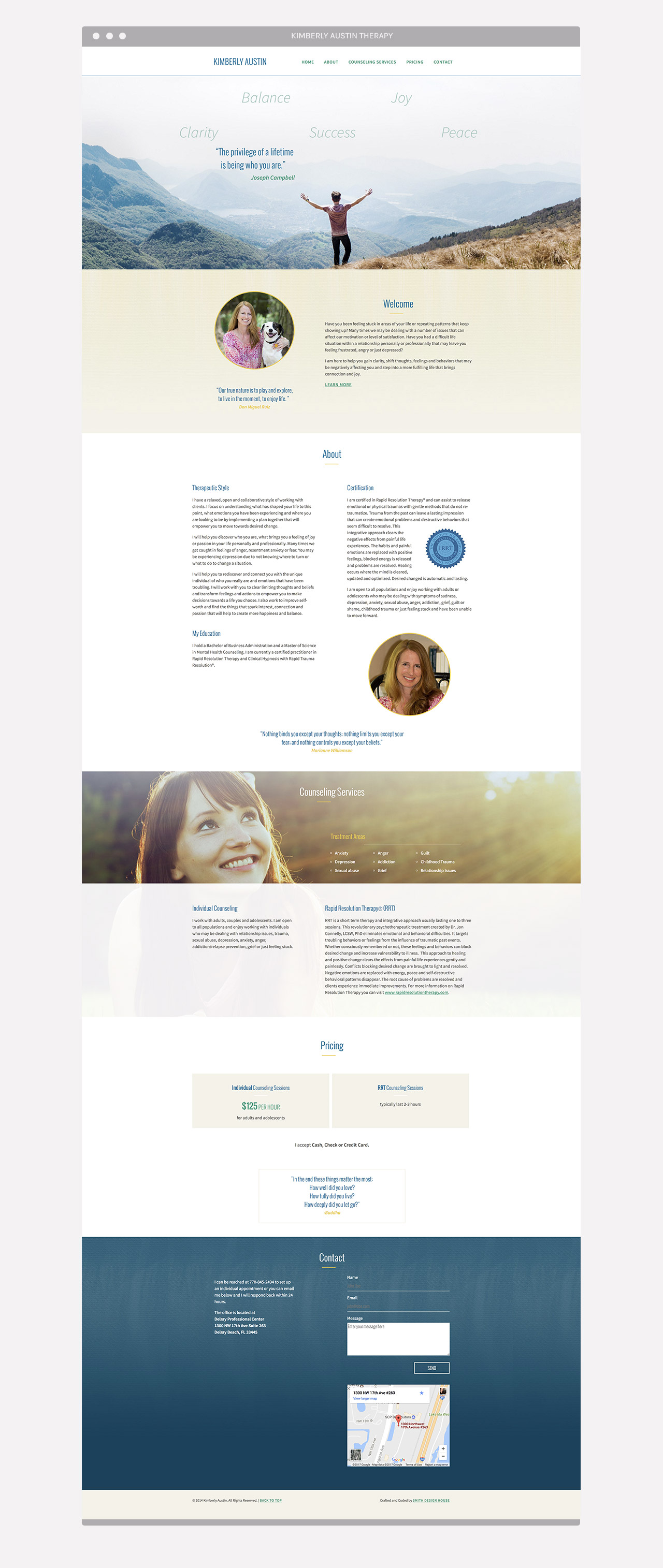 Kimberly Austin Therapy Web design