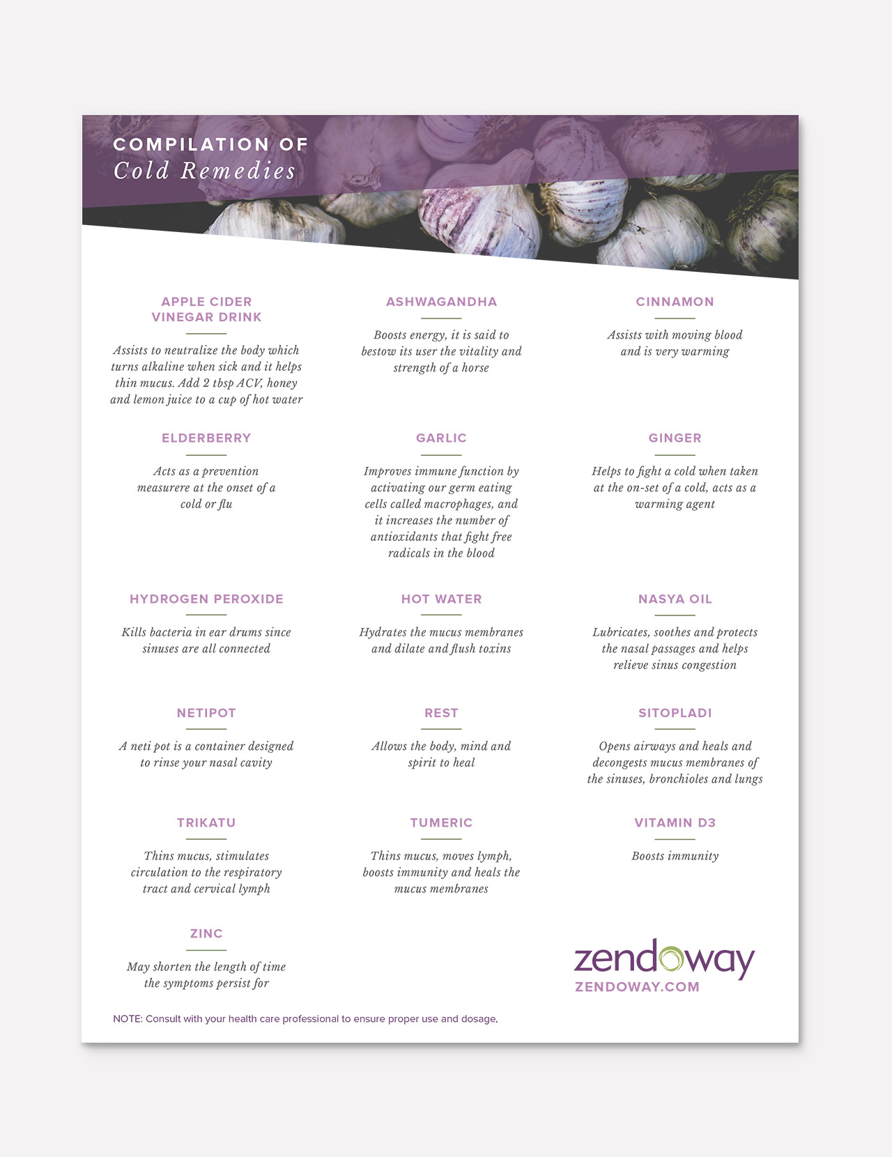 Zendoway Cold Remedies Flyer design