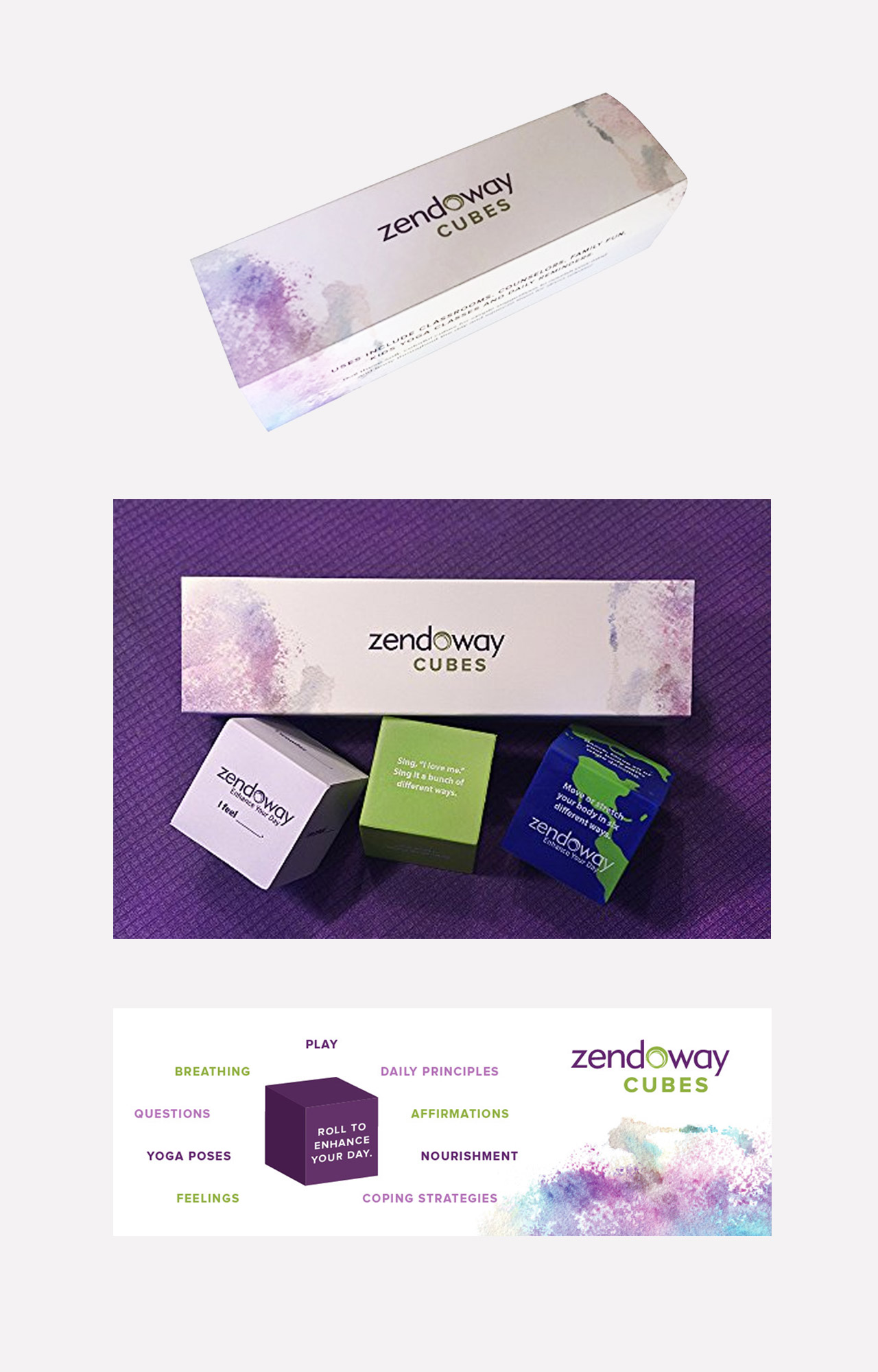 Zendoway Cubes Sell packaging design