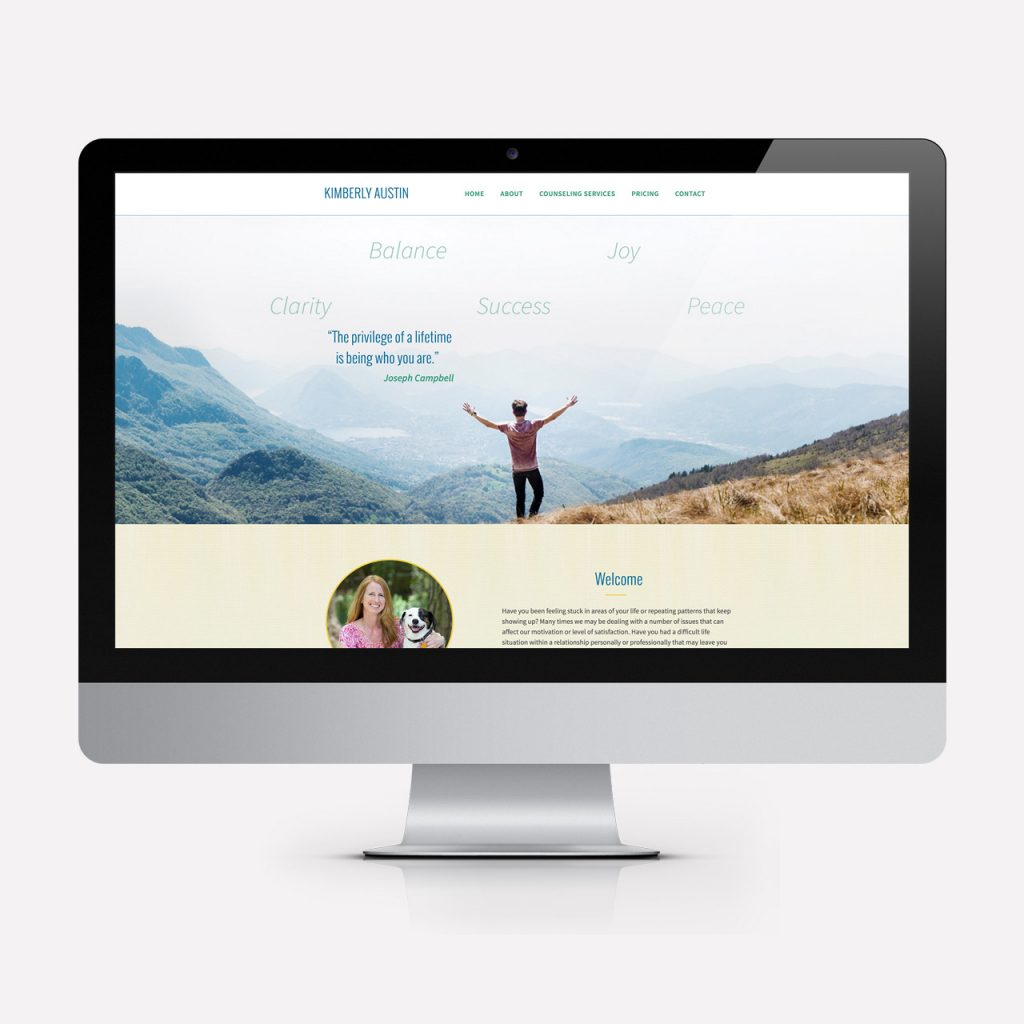 Kim Austin Website Design
