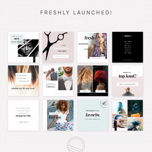 A Modern Social Media Pack for salons and hairstylists.