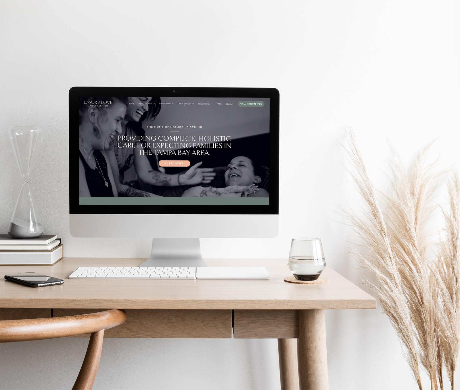Labor of Love website design by Smith Design House