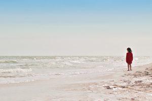 ocean, beach, girl