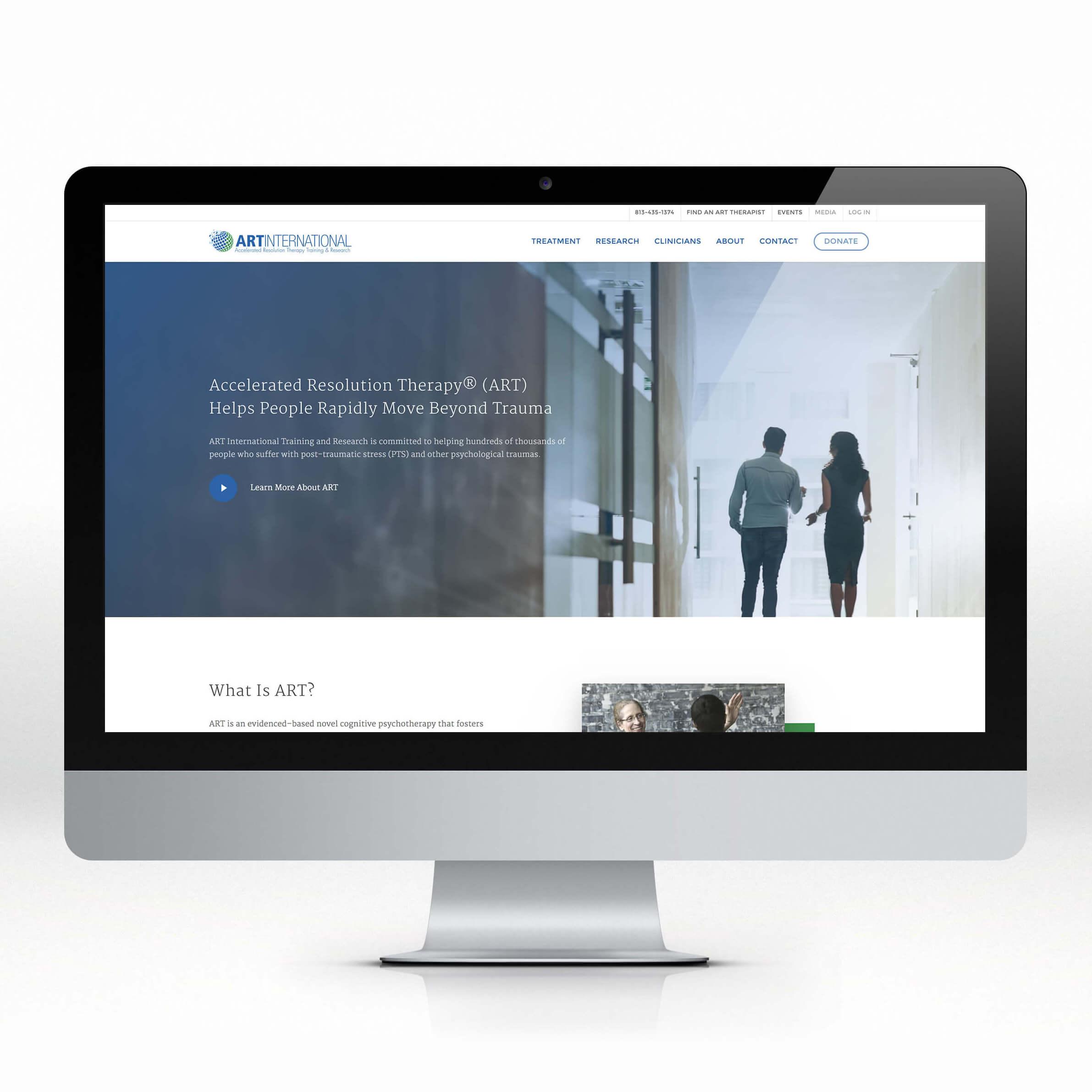 ART International website creative direction by smith design house