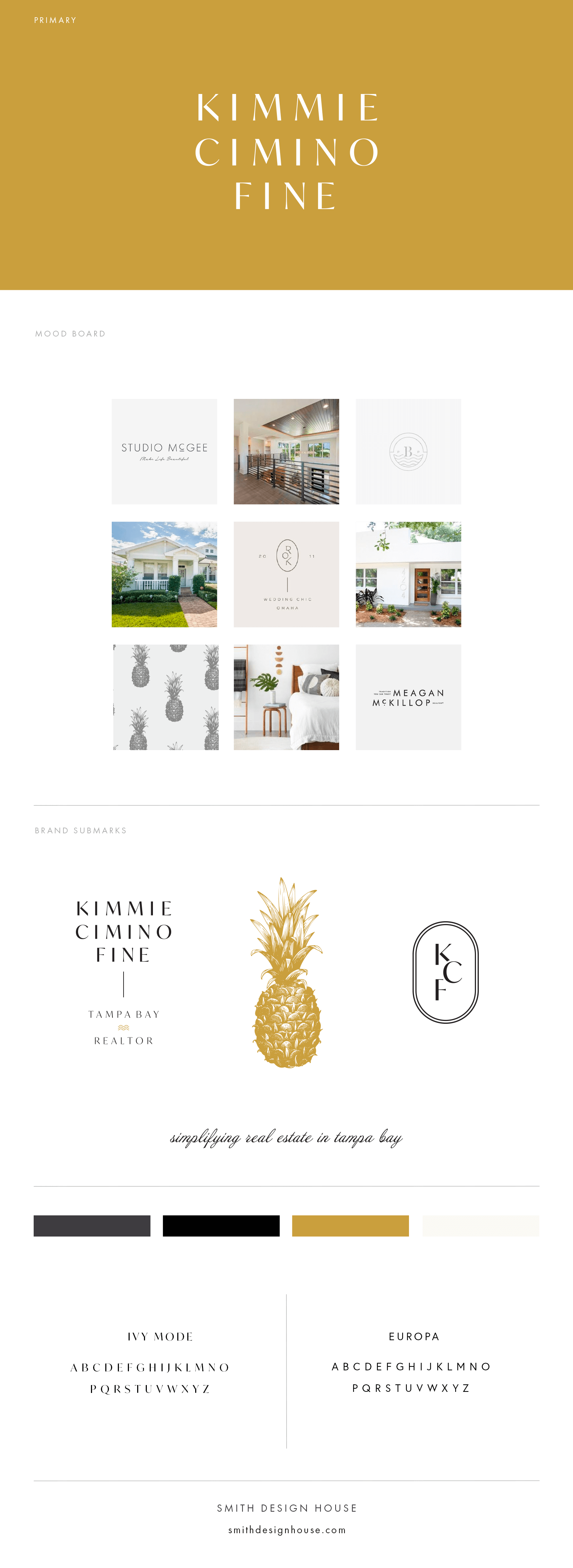 Kimmie Cimino Fine Realtor Branding by Smith Design House