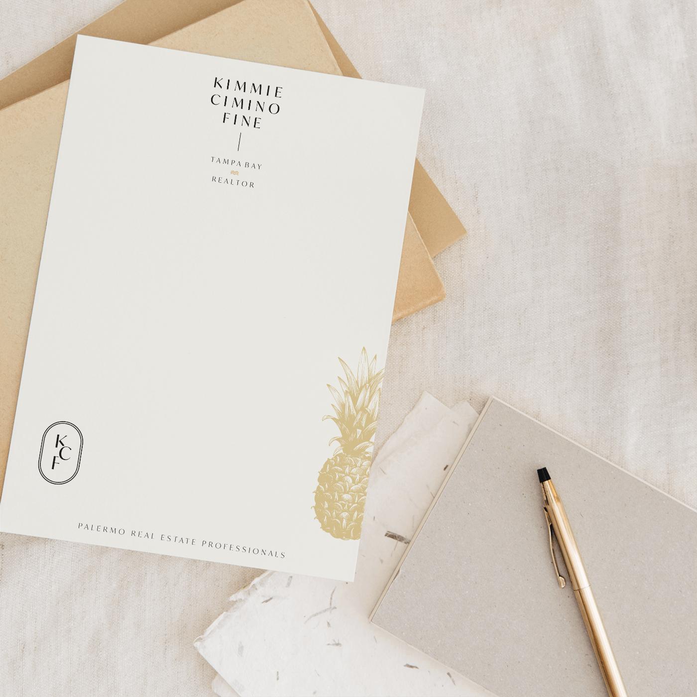 kimmie cimino fine realtor notecard design by Smith Design House