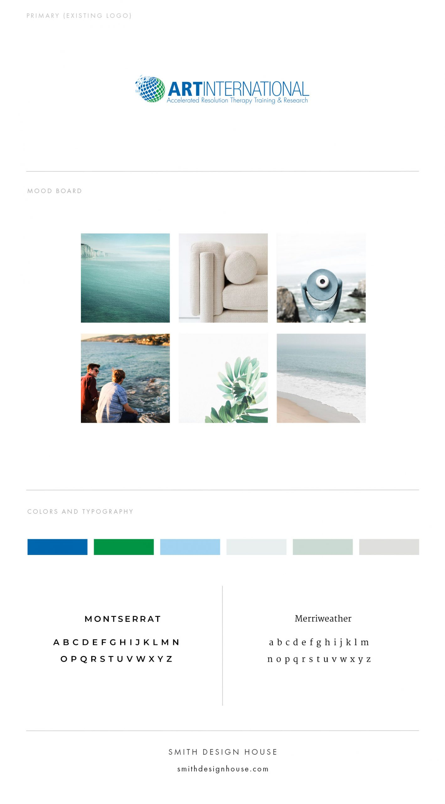ART International creative direction by Smith Design House
