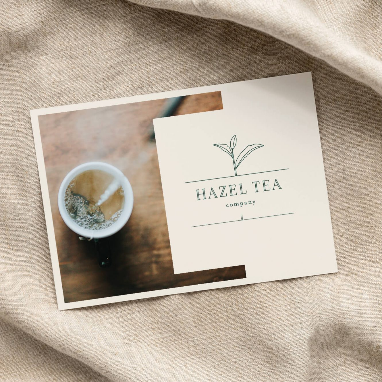 Hazel Tea Company Logo and Packaging Design - concept project